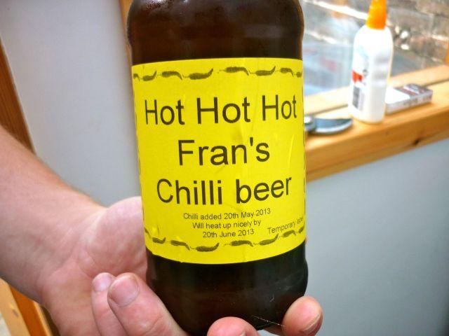 Fran's chilli beer