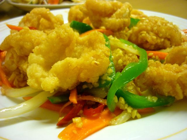 fried chilli salt squid
