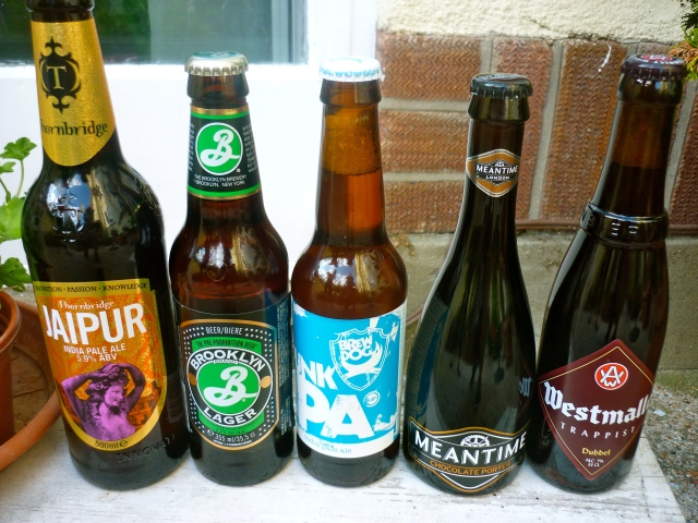 birthday beer selection