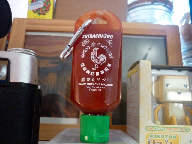Sriracha keyring